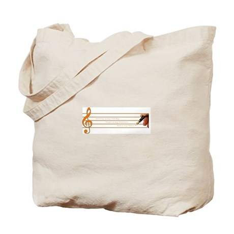 Music, Writing, God--My Survi Tote Bag