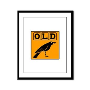 Old Crow Framed Panel Print