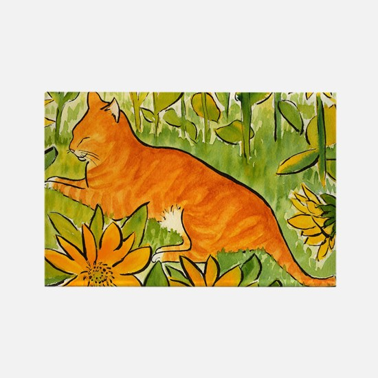 reclining cat Rectangle Magnet
