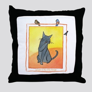 Cat-Delight in the Little Things Throw Pillow