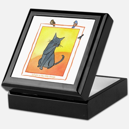Cat-Delight in the Little Things Keepsake Box