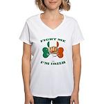 St. Patrick's Day - Fight Me I'm Irish Women's V-N
