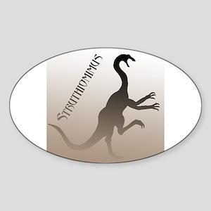 Struthiomimus Oval Sticker