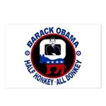 Barack Obama - Half Honkey, All Donkey Postcards (