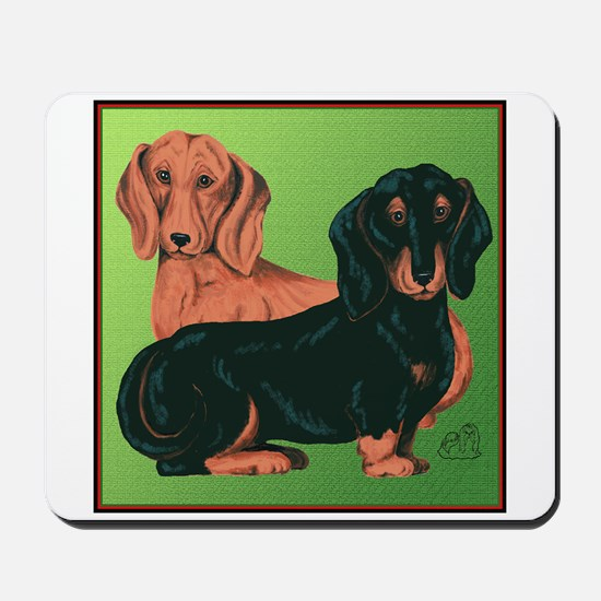 Double Dachshunds Mousepad