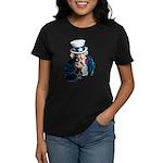 Uncle Sam Middle Finger Women's Dark T-Shirt