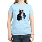 Uncle Sam Middle Finger Women's Light T-Shirt