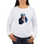Uncle Sam Middle Finger Women's Long Sleeve T-Shir