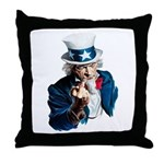 Uncle Sam Middle Finger Throw Pillow