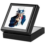 Uncle Sam Middle Finger Keepsake Box