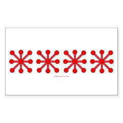 Pink Jacks Sticker (Rectangle 10 pk)