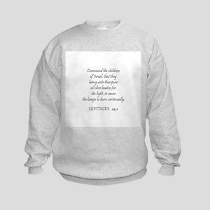 LEVITICUS  24:2 Kids Sweatshirt