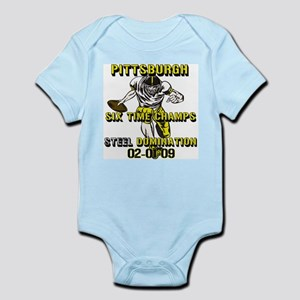Pittsburgh Six Time Champs Infant Bodysuit