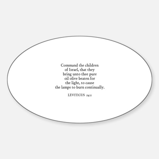 LEVITICUS 24:2 Oval Decal