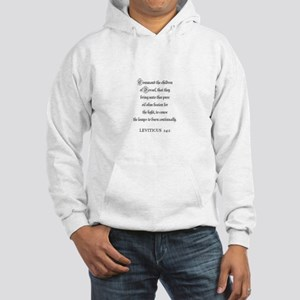 LEVITICUS 24:2 Hooded Sweatshirt