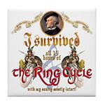 Ring Cycle Survivor Tile Coaster