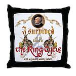 Ring Cycle Survivor Throw Pillow