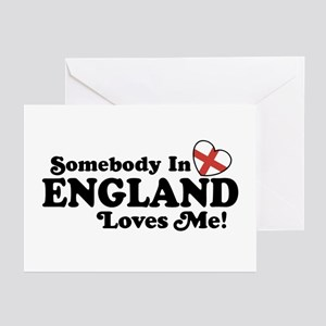 Somebody in England Loves Me Greeting Cards (Pk of