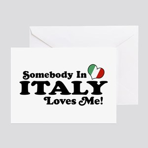 Somebody in Italy Loves Me Greeting Cards (Pk of 1