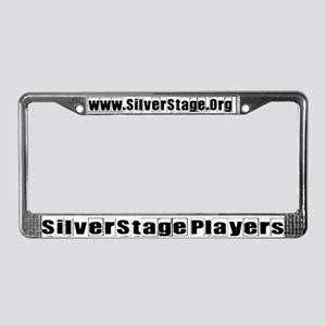 Silver Stage License Plate Frame
