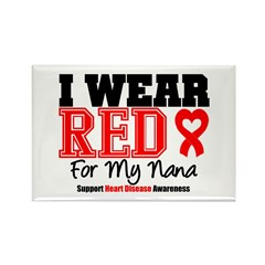I Wear Red Nana Rectangle Magnet (100 pack)