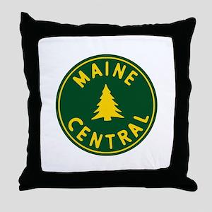 Main Central Railroad Throw Pillow