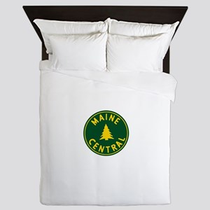 Main Central Railroad Queen Duvet