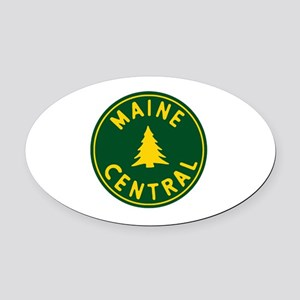 Main Central Railroad Oval Car Magnet