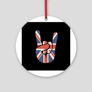 Union Jack Rock Ornament (Round)