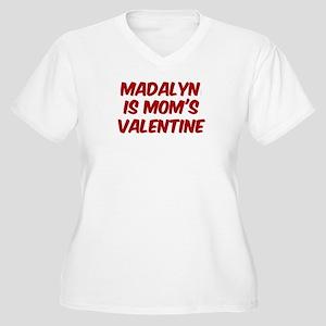 Madalyns is moms valentine Women's Plus Size V-Nec