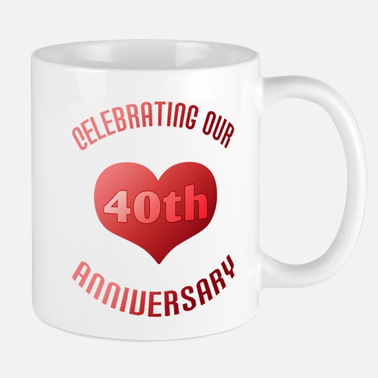 40th Anniversary Heart Gift Mug