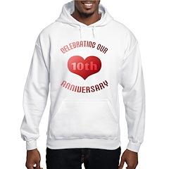 10th Anniversary Heart Gift Hoodie