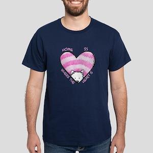 Home Is...Heart Dark T-Shirt