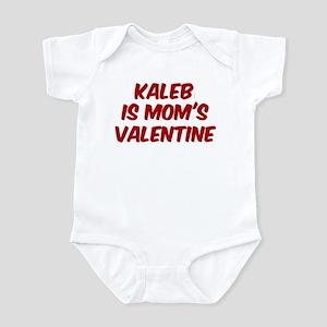 Kalebs is moms valentine Infant Bodysuit