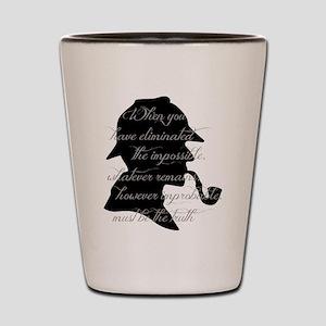 Sherlock Wisdom Shot Glass