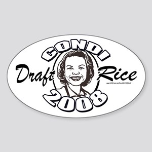 Draft Condi Rice 2008 Oval Sticker