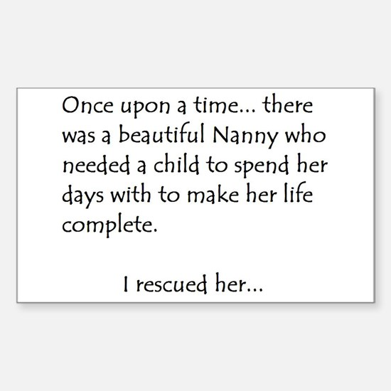 THE STORY OF NANNY Rectangle Decal