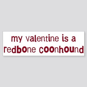 Redbone Coonhound valentine Bumper Sticker