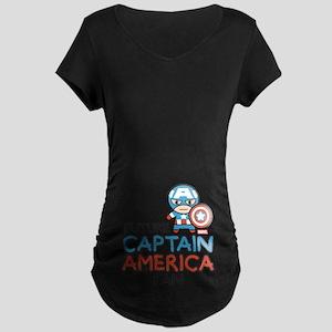 Future Captain America Fan Maternity Dark T-Shirt