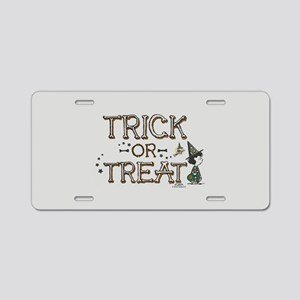 Peanuts - Trick or Treat Aluminum License Plate