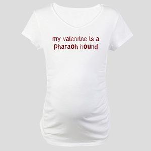 Pharaoh Hound valentine Maternity T-Shirt
