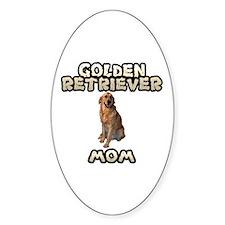 Golden Retriever Mom Sticker (Oval)