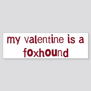 Foxhound valentine Bumper Sticker
