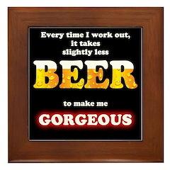 Slightly Less Beer Framed Tile