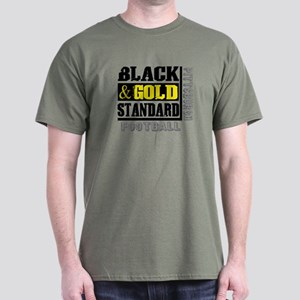 Black and Gold Standard Dark T-Shirt