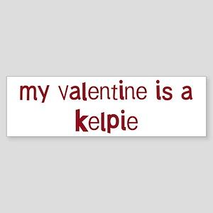Kelpie valentine Bumper Sticker