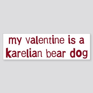 Karelian Bear Dog valentine Bumper Sticker