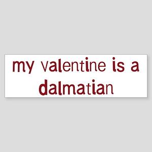 Dalmatian valentine Bumper Sticker