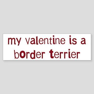 Border Terrier valentine Bumper Sticker