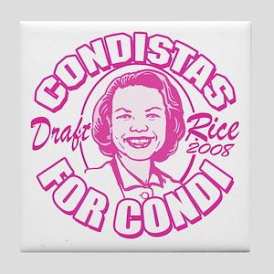 Condistas for Condi Pink Tile Coaster